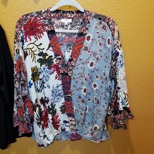 Umgee Patchwork Blouse